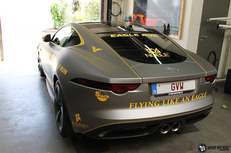 Jaguar F-type eagle run, Carwrapping door Wrapmyride.nu Foto-nr:10939, ©2021