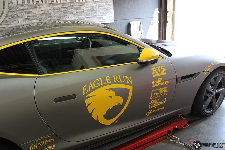 Jaguar F-type eagle run, Carwrapping door Wrapmyride.nu Foto-nr:10936, ©2021