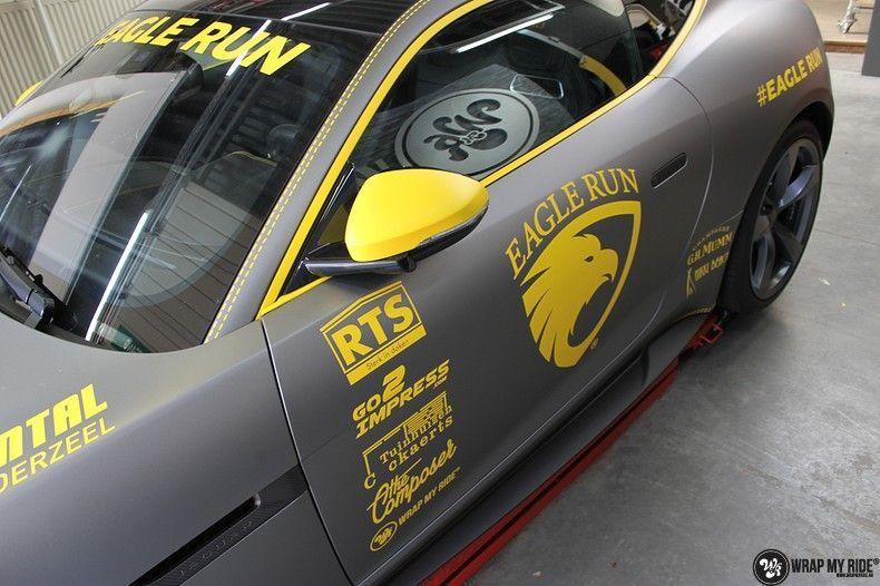 Jaguar F-type eagle run, Carwrapping door Wrapmyride.nu Foto-nr:10922, ©2021