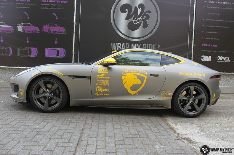 Jaguar F-type eagle run, Carwrapping door Wrapmyride.nu Foto-nr:10913, ©2021