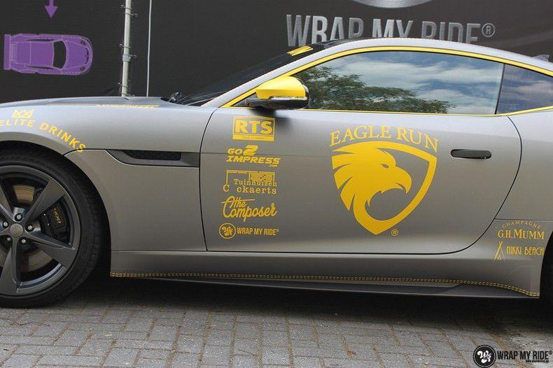 Jaguar F-type eagle run, Carwrapping door Wrapmyride.nu Foto-nr:10912, ©2021
