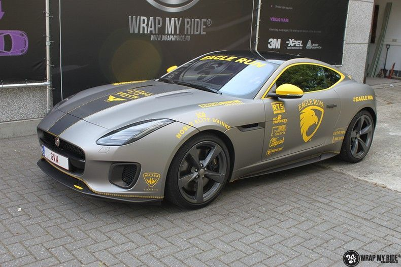 Jaguar F-type eagle run, Carwrapping door Wrapmyride.nu Foto-nr:10911, ©2021