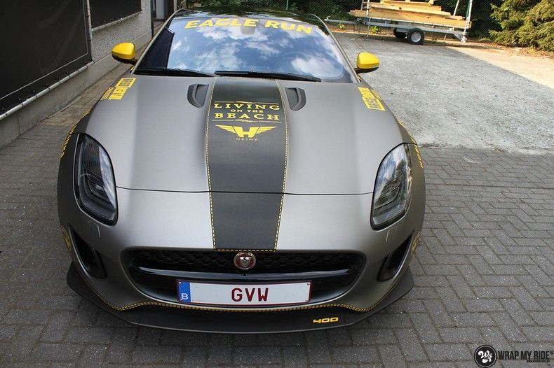 Jaguar F-type eagle run, Carwrapping door Wrapmyride.nu Foto-nr:10908, ©2021