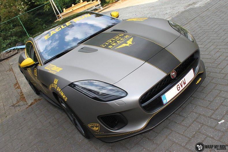 Jaguar F-type eagle run, Carwrapping door Wrapmyride.nu Foto-nr:10907, ©2021
