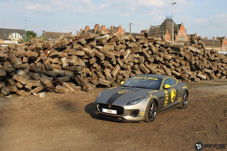 Jaguar F-type eagle run, Carwrapping door Wrapmyride.nu Foto-nr:10901, ©2021