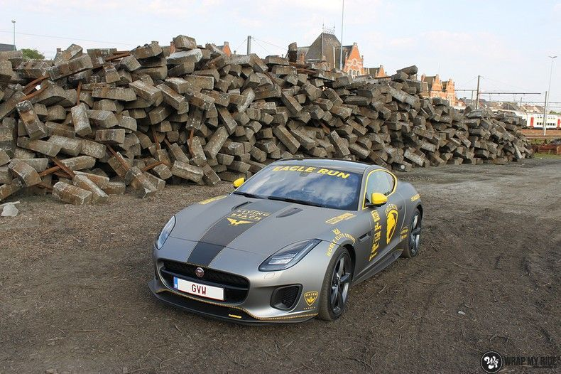 Jaguar F-type eagle run, Carwrapping door Wrapmyride.nu Foto-nr:10900, ©2021