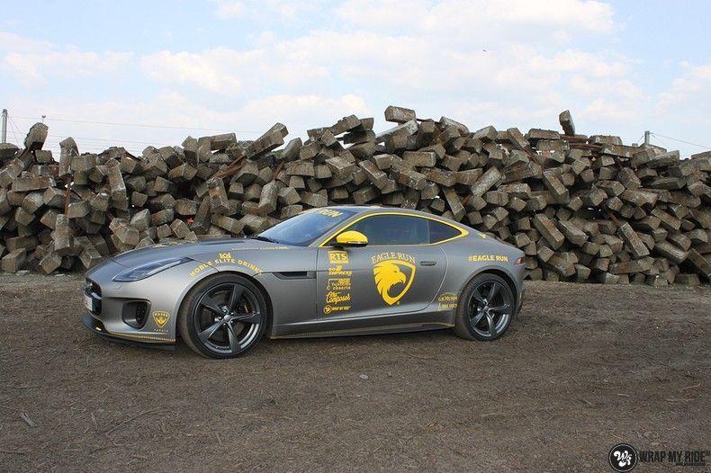 Jaguar F-type eagle run, Carwrapping door Wrapmyride.nu Foto-nr:10896, ©2021