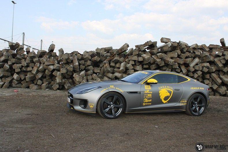 Jaguar F-type eagle run, Carwrapping door Wrapmyride.nu Foto-nr:10894, ©2021