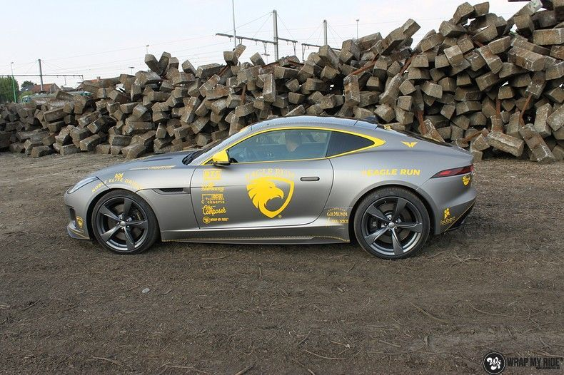 Jaguar F-type eagle run, Carwrapping door Wrapmyride.nu Foto-nr:10893, ©2018