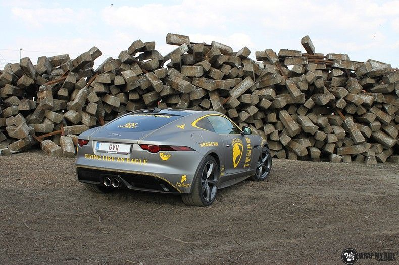 Jaguar F-type eagle run, Carwrapping door Wrapmyride.nu Foto-nr:10892, ©2021