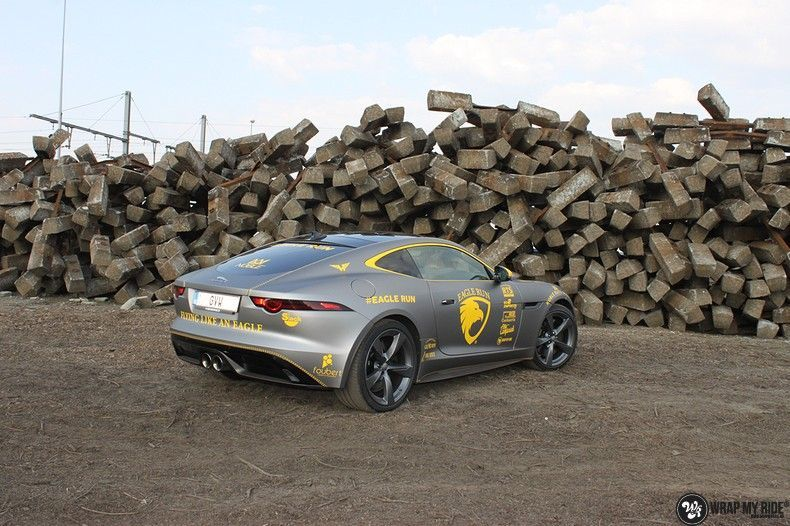 Jaguar F-type eagle run, Carwrapping door Wrapmyride.nu Foto-nr:10891, ©2021