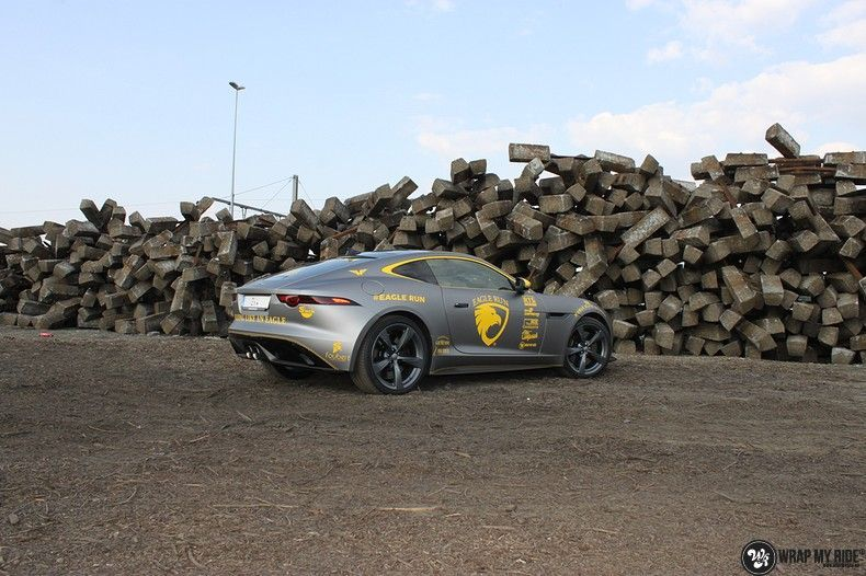 Jaguar F-type eagle run, Carwrapping door Wrapmyride.nu Foto-nr:10889, ©2021