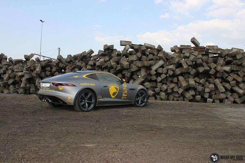 Jaguar F-type eagle run, Carwrapping door Wrapmyride.nu Foto-nr:10887, ©2021