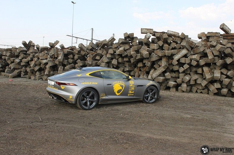 Jaguar F-type eagle run, Carwrapping door Wrapmyride.nu Foto-nr:10886, ©2021