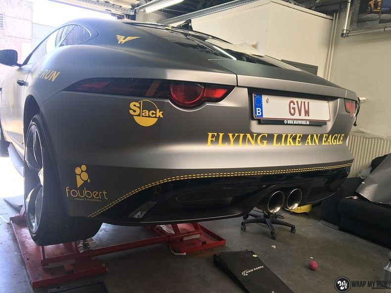 Jaguar F-type eagle run, Carwrapping door Wrapmyride.nu Foto-nr:10971, ©2018