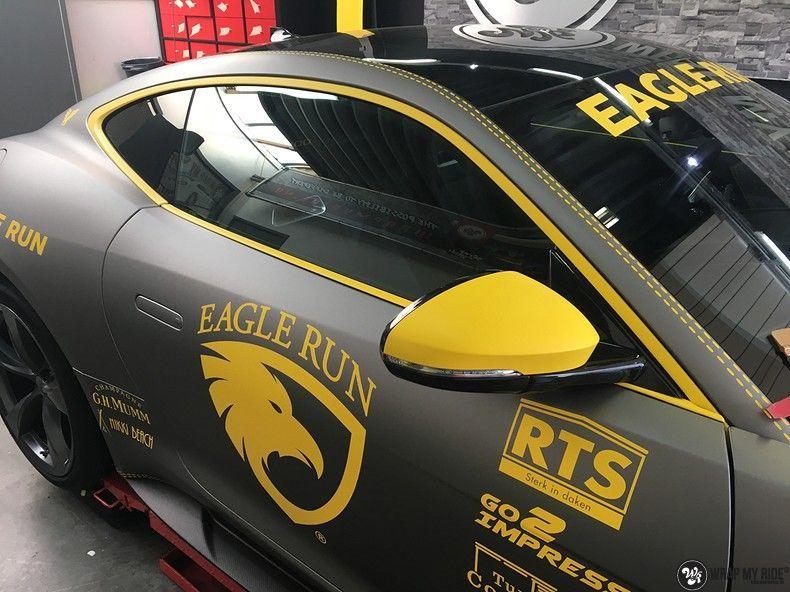 Jaguar F-type eagle run, Carwrapping door Wrapmyride.nu Foto-nr:10958, ©2021