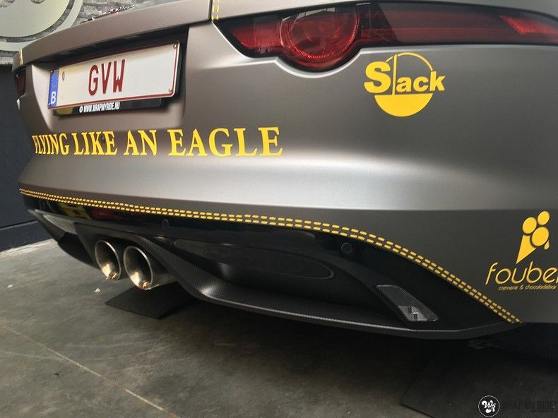 Jaguar F-type eagle run, Carwrapping door Wrapmyride.nu Foto-nr:10957, ©2021
