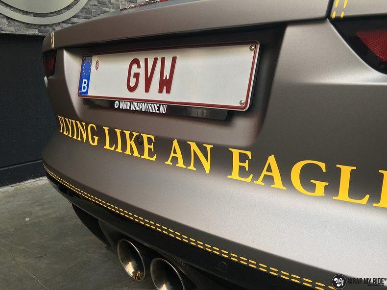 Jaguar F-type eagle run, Carwrapping door Wrapmyride.nu Foto-nr:10955, ©2021