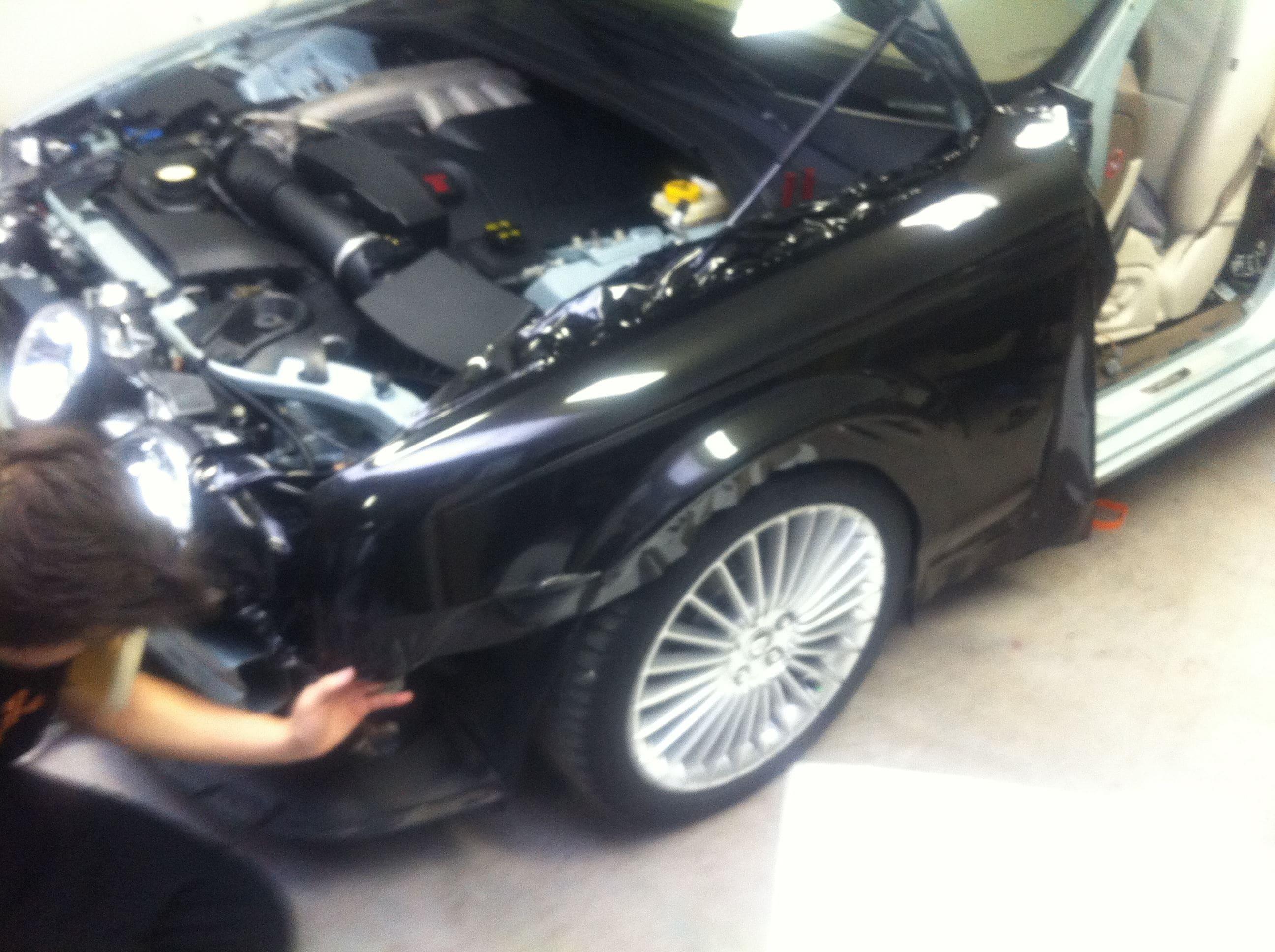 Jaguar S-type met Zwarte Metallic Wrap, Carwrapping door Wrapmyride.nu Foto-nr:5903, ©2020