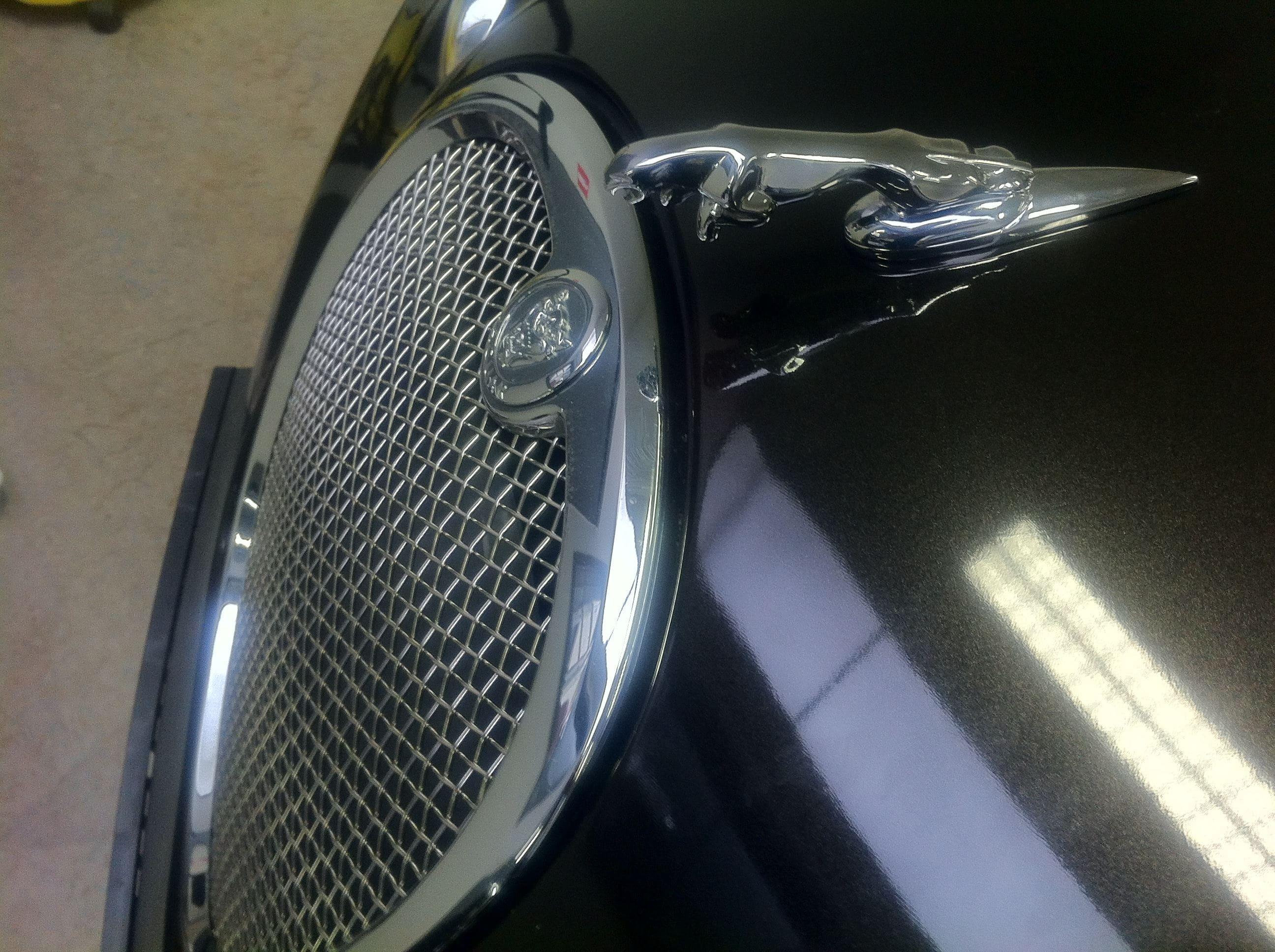 Jaguar S-type met Zwarte Metallic Wrap, Carwrapping door Wrapmyride.nu Foto-nr:5906, ©2020