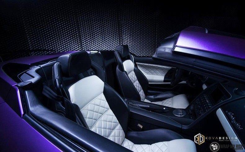 Lamborghini Gallardo Spider matte purple chrome, Carwrapping door Wrapmyride.nu Foto-nr:11240, ©2018