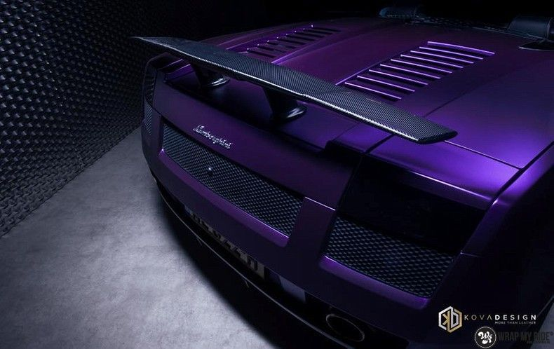 Lamborghini Gallardo Spider matte purple chrome, Carwrapping door Wrapmyride.nu Foto-nr:11236, ©2018