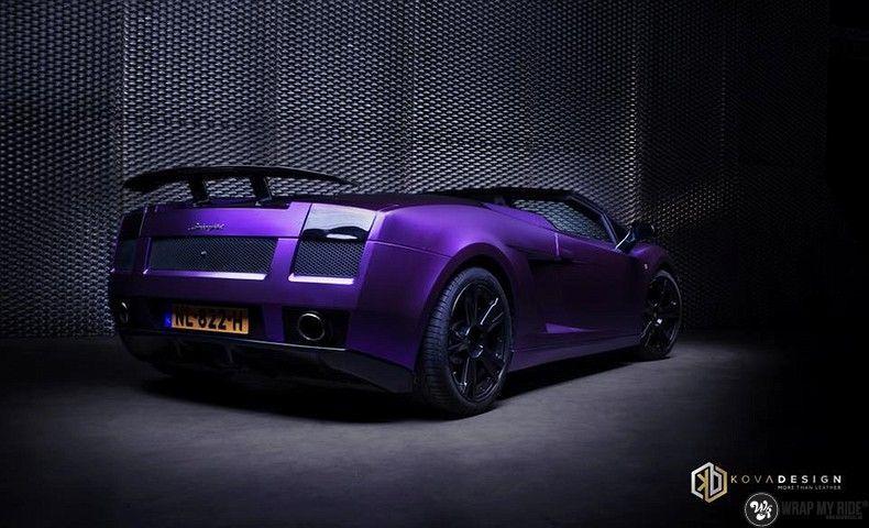 Lamborghini Gallardo Spider matte purple chrome, Carwrapping door Wrapmyride.nu Foto-nr:11239, ©2018
