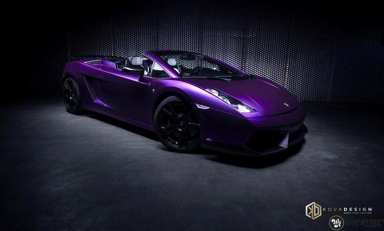Lamborghini Gallardo Spider matte purple chrome, Carwrapping door Wrapmyride.nu Foto-nr:11241, ©2018