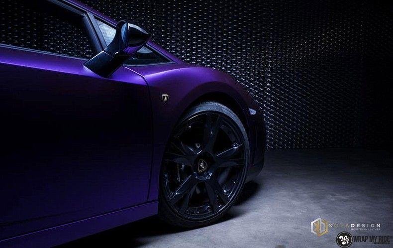 Lamborghini Gallardo Spider matte purple chrome, Carwrapping door Wrapmyride.nu Foto-nr:11235, ©2018