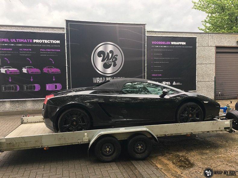 Lamborghini Gallardo Spider matte purple chrome, Carwrapping door Wrapmyride.nu Foto-nr:11247, ©2018