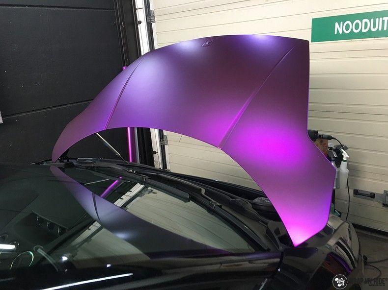Lamborghini Gallardo Spider matte purple chrome, Carwrapping door Wrapmyride.nu Foto-nr:11245, ©2018