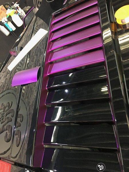 Lamborghini Gallardo Spider matte purple chrome, Carwrapping door Wrapmyride.nu Foto-nr:11250, ©2018