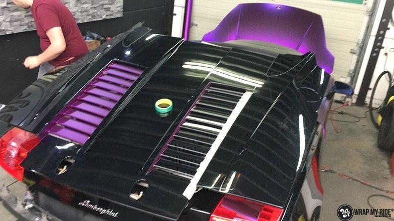 Lamborghini Gallardo Spider matte purple chrome, Carwrapping door Wrapmyride.nu Foto-nr:11293, ©2018