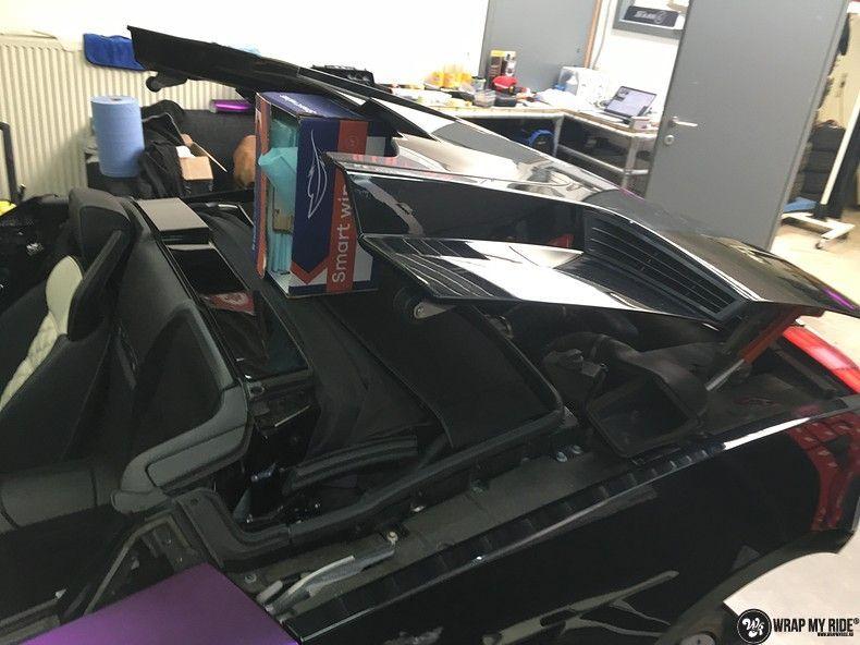 Lamborghini Gallardo Spider matte purple chrome, Carwrapping door Wrapmyride.nu Foto-nr:11253, ©2018