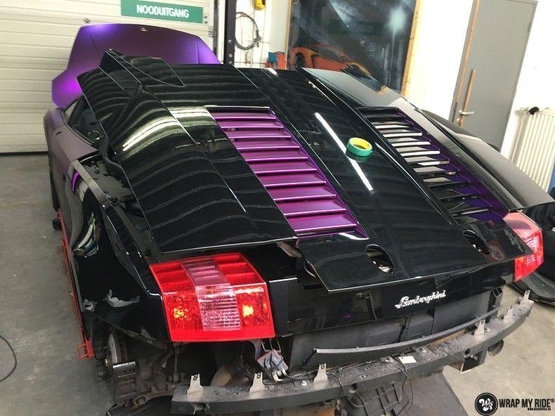 Lamborghini Gallardo Spider matte purple chrome, Carwrapping door Wrapmyride.nu Foto-nr:11252, ©2018
