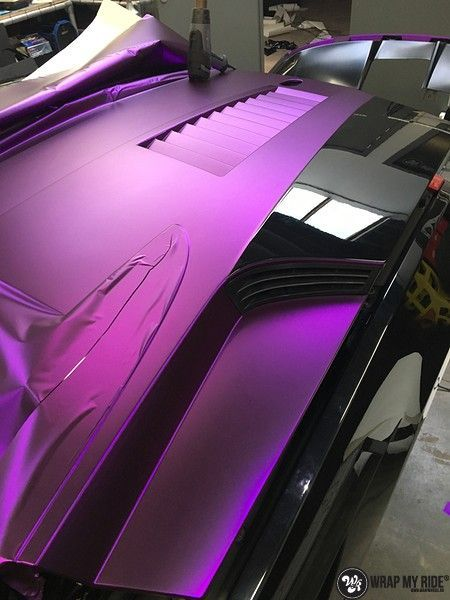 Lamborghini Gallardo Spider matte purple chrome, Carwrapping door Wrapmyride.nu Foto-nr:11263, ©2018