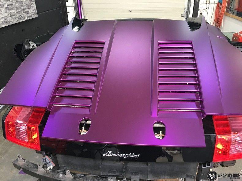 Lamborghini Gallardo Spider matte purple chrome, Carwrapping door Wrapmyride.nu Foto-nr:11262, ©2018