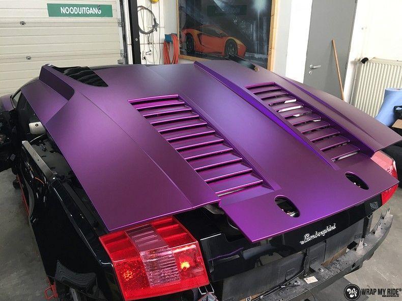 Lamborghini Gallardo Spider matte purple chrome, Carwrapping door Wrapmyride.nu Foto-nr:11260, ©2018