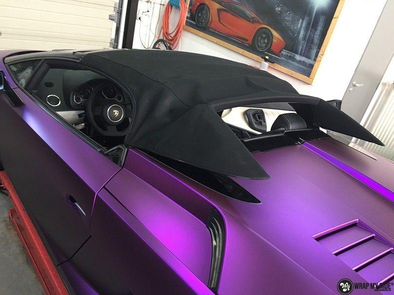 Lamborghini Gallardo Spider matte purple chrome, Carwrapping door Wrapmyride.nu Foto-nr:11276, ©2018