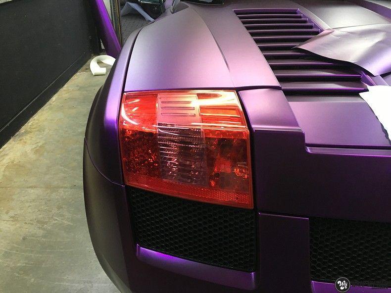 Lamborghini Gallardo Spider matte purple chrome, Carwrapping door Wrapmyride.nu Foto-nr:11291, ©2018