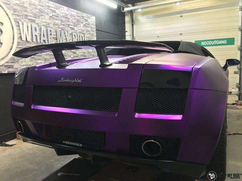 Lamborghini Gallardo Spider matte purple chrome, Carwrapping door Wrapmyride.nu Foto-nr:11270, ©2018