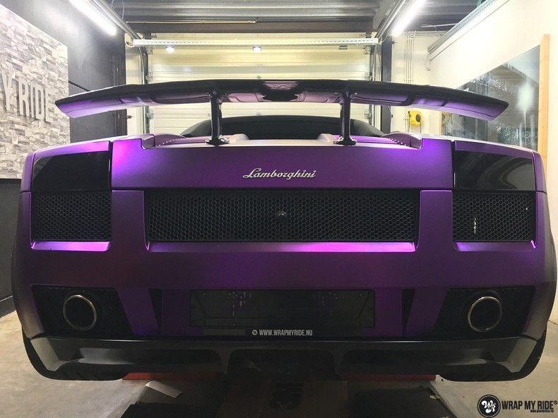Lamborghini Gallardo Spider matte purple chrome, Carwrapping door Wrapmyride.nu Foto-nr:11269, ©2018