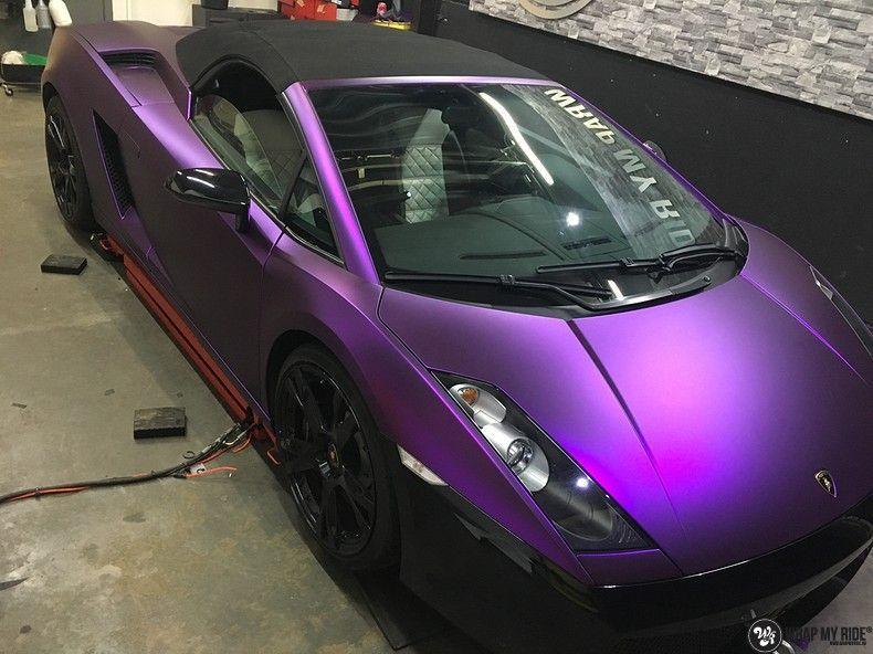 Lamborghini Gallardo Spider matte purple chrome, Carwrapping door Wrapmyride.nu Foto-nr:11266, ©2018