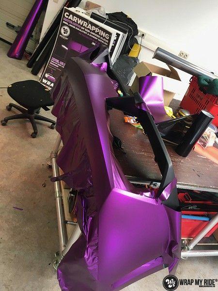 Lamborghini Gallardo Spider matte purple chrome, Carwrapping door Wrapmyride.nu Foto-nr:11284, ©2018