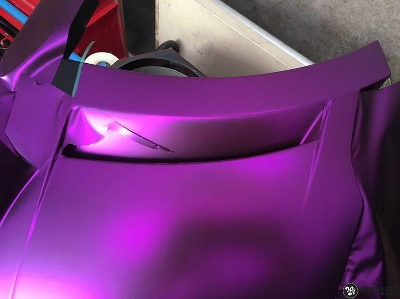 Lamborghini Gallardo Spider matte purple chrome, Carwrapping door Wrapmyride.nu Foto-nr:11282, ©2018