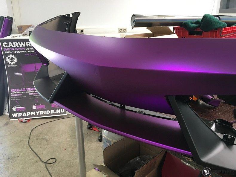 Lamborghini Gallardo Spider matte purple chrome, Carwrapping door Wrapmyride.nu Foto-nr:11277, ©2018