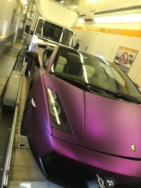 Lamborghini Gallardo Spider matte purple chrome, Carwrapping door Wrapmyride.nu Foto-nr:11287, ©2018