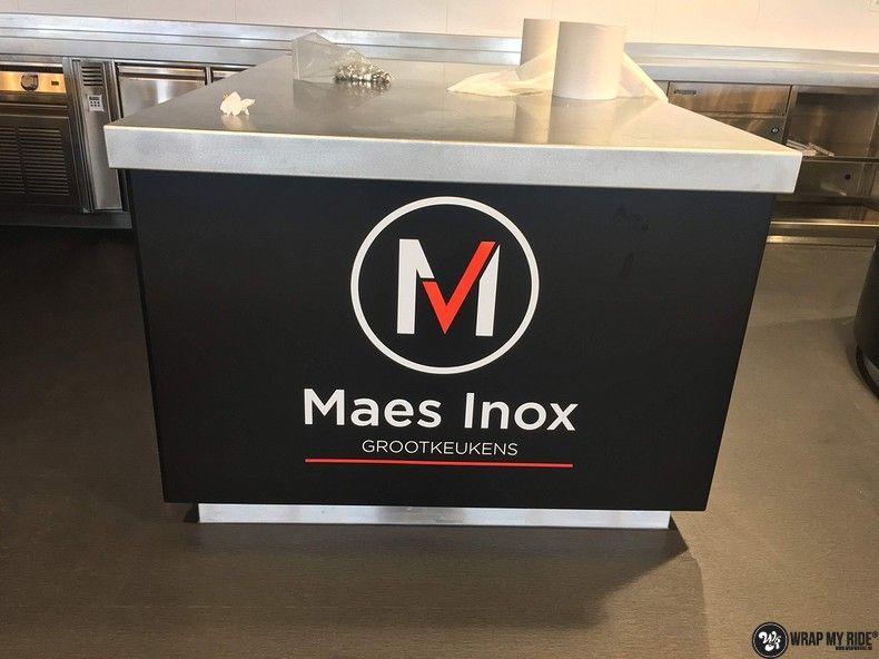 Maes inox keuken wrap, Carwrapping door Wrapmyride.nu Foto-nr:12661, ©2021