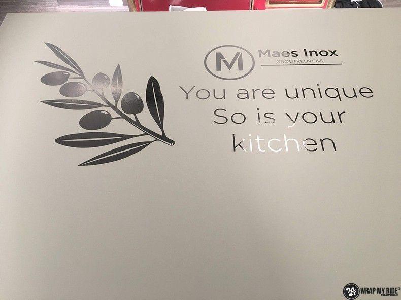 Maes inox keuken wrap, Carwrapping door Wrapmyride.nu Foto-nr:12654, ©2021