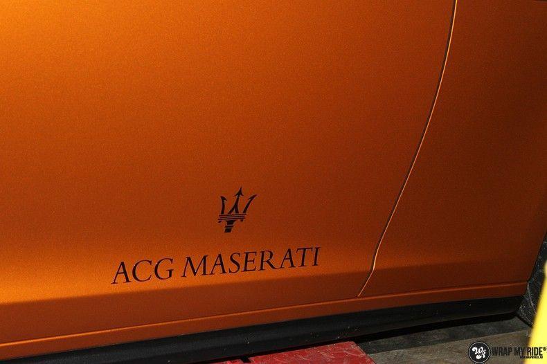 Maserati ghibli satin canyon copper, Carwrapping door Wrapmyride.nu Foto-nr:11580, ©2020